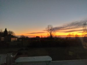 Sunset over Frolesworth